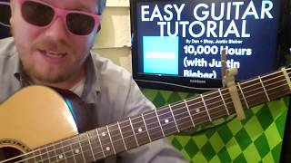 10000 Hours Dan Shay with Justin Bieber guitar lesson beginner tutorial easy chords picking.mp3