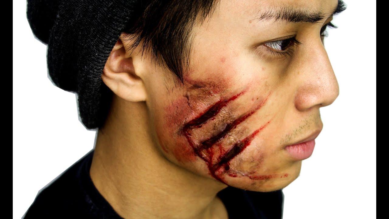 easy cuts wounds halloween tutorial theprinceofvanity youtube - Halloween Fake Wounds