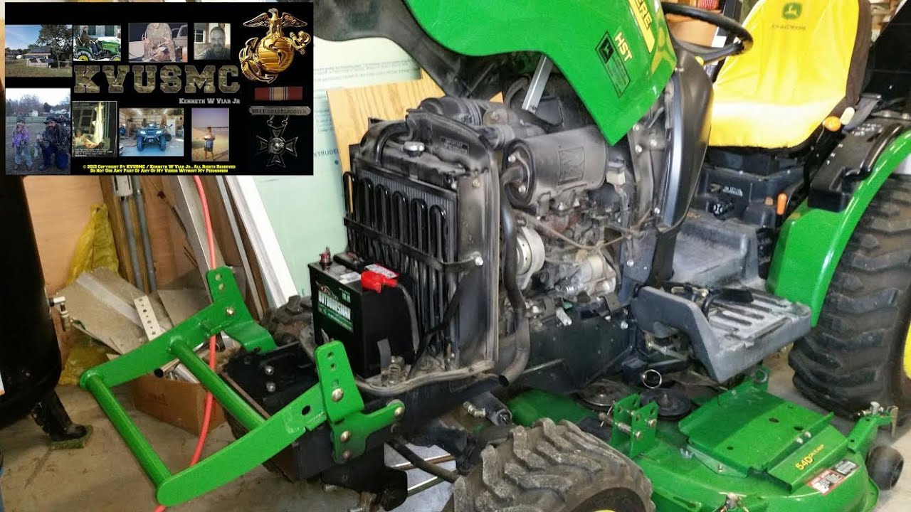 installing replacement battery   radiator cleaning on a JD 2520 Compact Tractor JD 2520 Specs