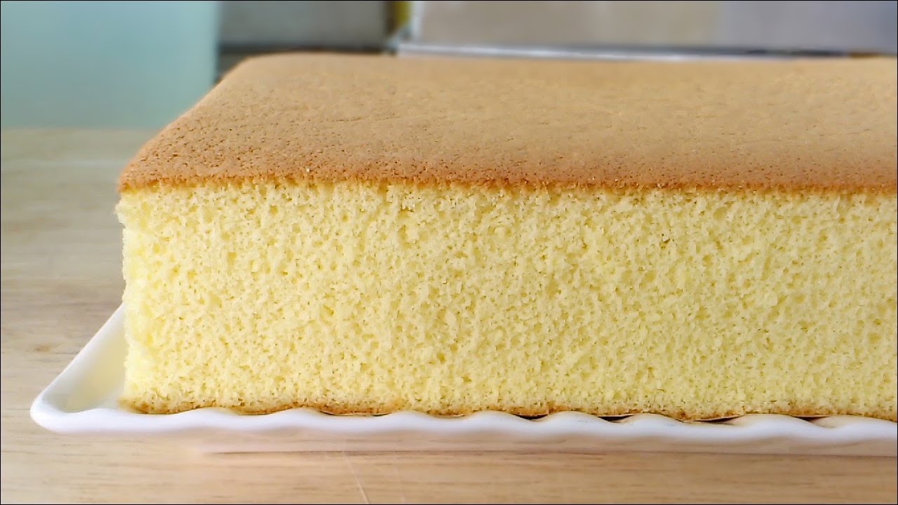 Japanese Sponge Cake Recipe Youtube: Honey Castella (Kasutera)Cake (蜂蜜蛋糕) **