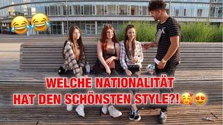 WELCHE NATIONALITÄT HAT DEN SCHÖNSTEN STYLE?!🥰😍 WOLFSBURGER HAUPTWACHE❌ ZU LUSTIG...😂😂