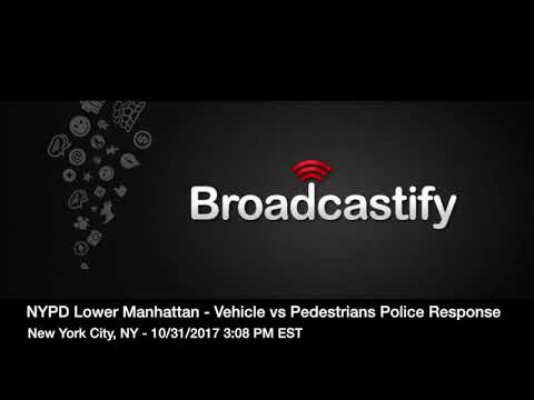 10/31/2017 - NYPD Police Response Radio Traffic - Manhattan Vehicle vs Pedestrians Incident