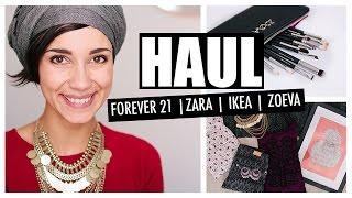 HAUL   Forever 21, Zara, Ikéa, Zoeva   Coline