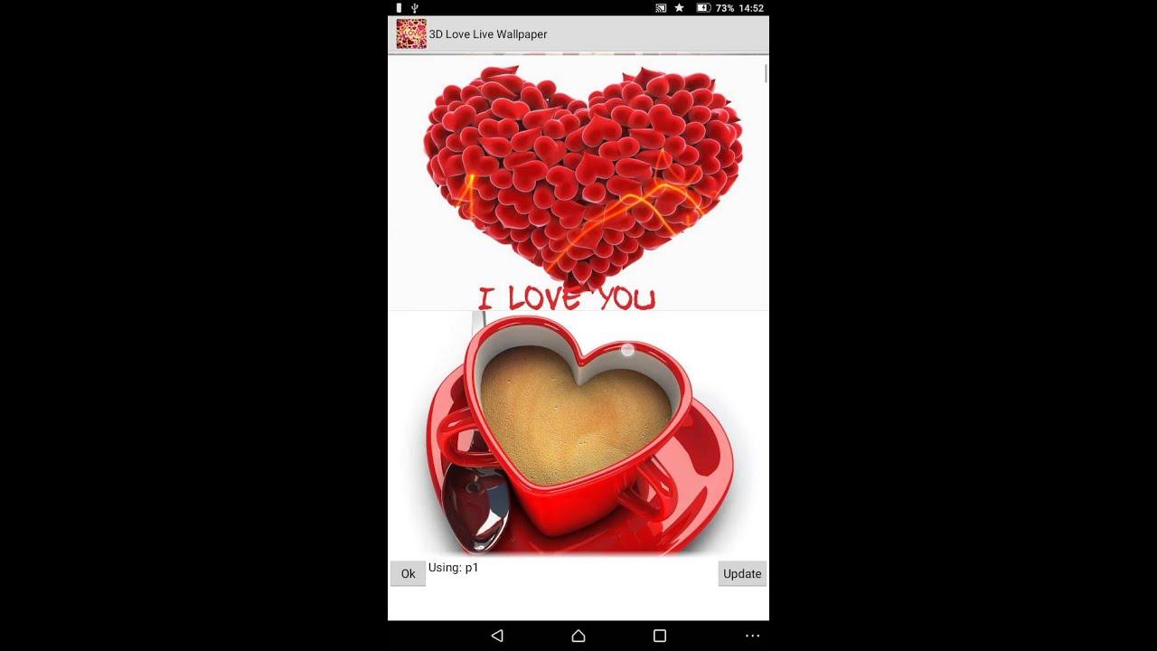 3d Love Wallpaper Youtube