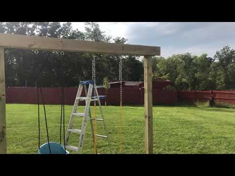 How To Build A Strong DIY Swing Set From Wood!