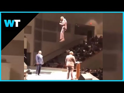 Preacher Goes VIRAL After FLYING into Pulpit