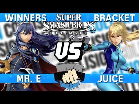 Smash Ultimate Tournament Set - Mr. E (Lucina) vs Juice (Zero Suit Samus) - Collision 2019 thumbnail