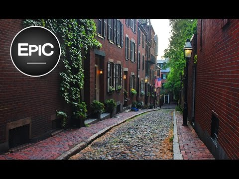 Beacon Hill & Acorn St. - Boston, USA (HD)