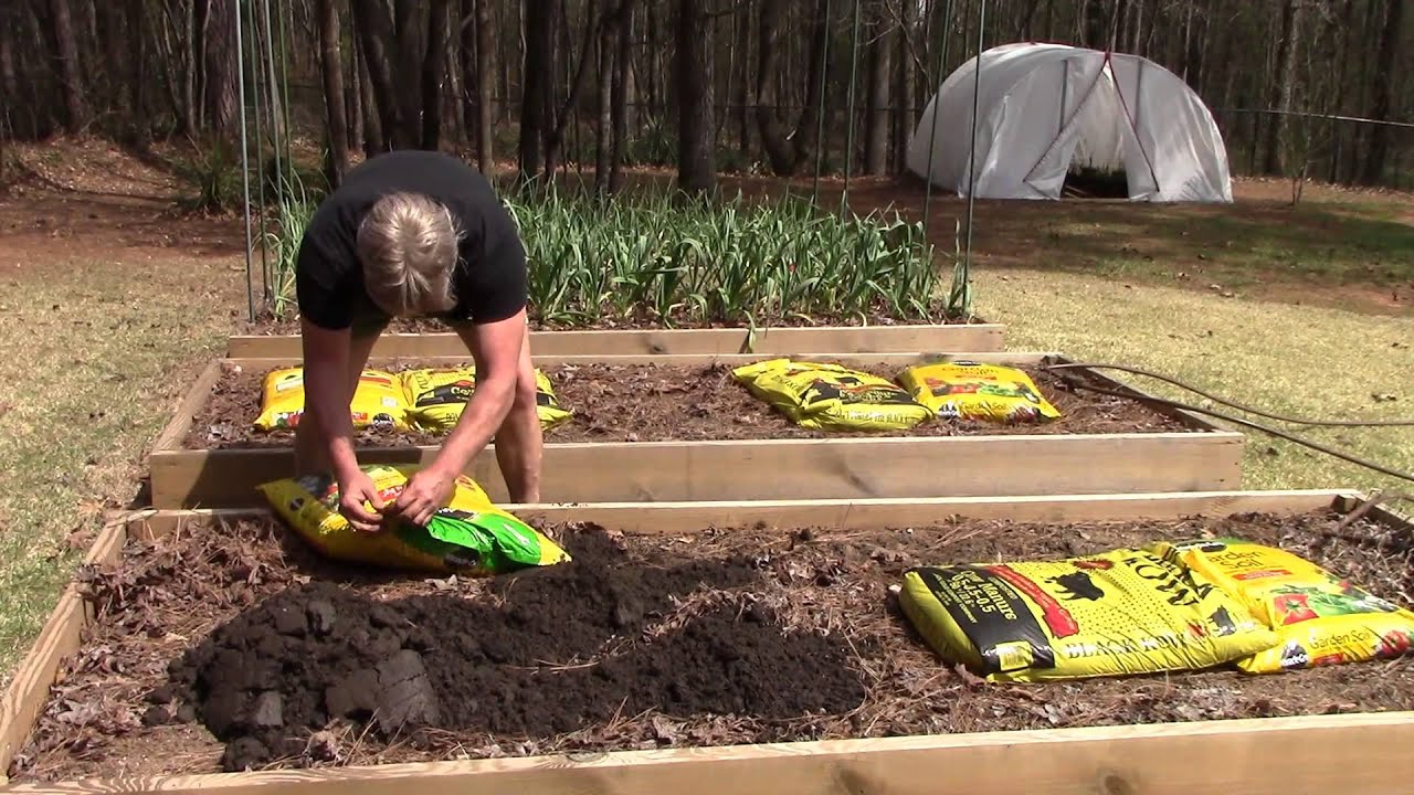 Spring Garden Raised Bed Preparation Youtube