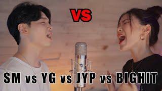 Download 한 곡에 듣는 대형기획사 대결   YG vs JYP vs SM vs BIGHIT   BTS vs TWICE vs BLACKPINK vs NCT …   SINGOFF