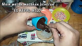 "Download Video Tiny cooking ""ICE KEPAL MILO (Malaysian food)"" 