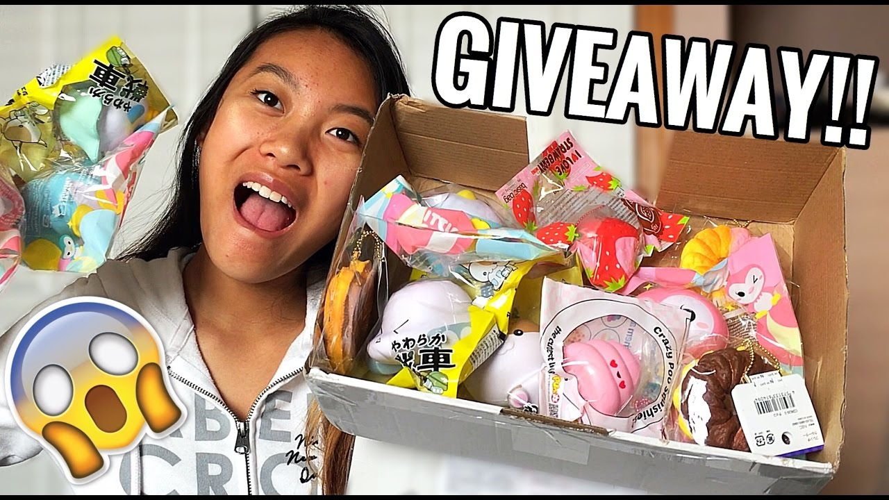 Squishy Giveaways : HUGE SQUISHY GIVEAWAY!! *CLOSED* - YouTube