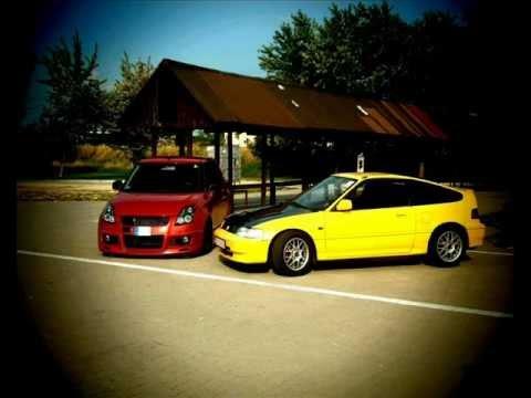 Yellow Honda CRX ED9