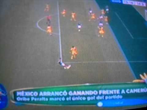 MÉXICO vs CAMERÚN 1-0 Gol Oribe Peralta - Brasil 2014 13/06/2014