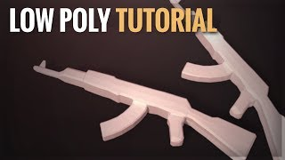 Waffen (Low Poly) | AK-47 Blender Tutorial | German