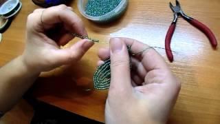 Плетение из бисера. Фиалка