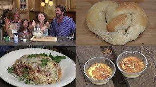Dutch Oven Baked Spaghetti, Custard, Homemade Soft Pretzels (Episode #434)