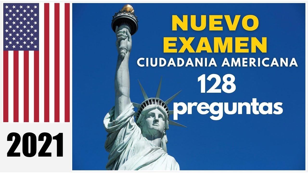 Nuevo Examen De Ciudadania Americana 2021 En Español 128 Preguntas Actuales Youtube