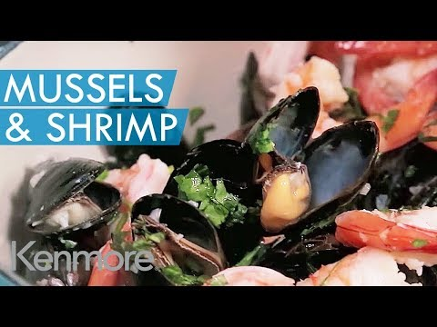 Easy Seafood Recipes: Mussels & Shrimp in White Wine Sauce | Kenmore