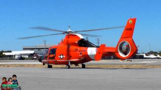 HH-65 DOLPHIN UNITED STATES COAST GUARD HELICOPTER TAKE OFF