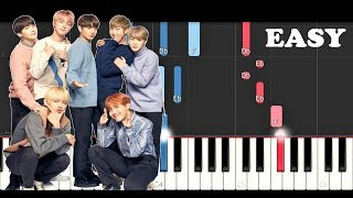 BTS (방탄소년단) - Answer: Love Myself (EASY Piano Tutorial)