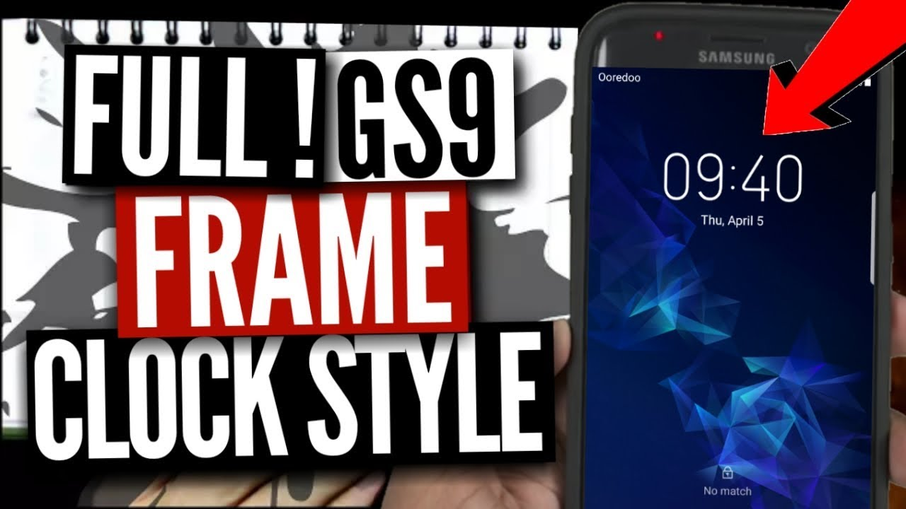 Get Galaxy S9 Clock Font on Any Samsung phone on the Lockscreen | No Root &  no Pc