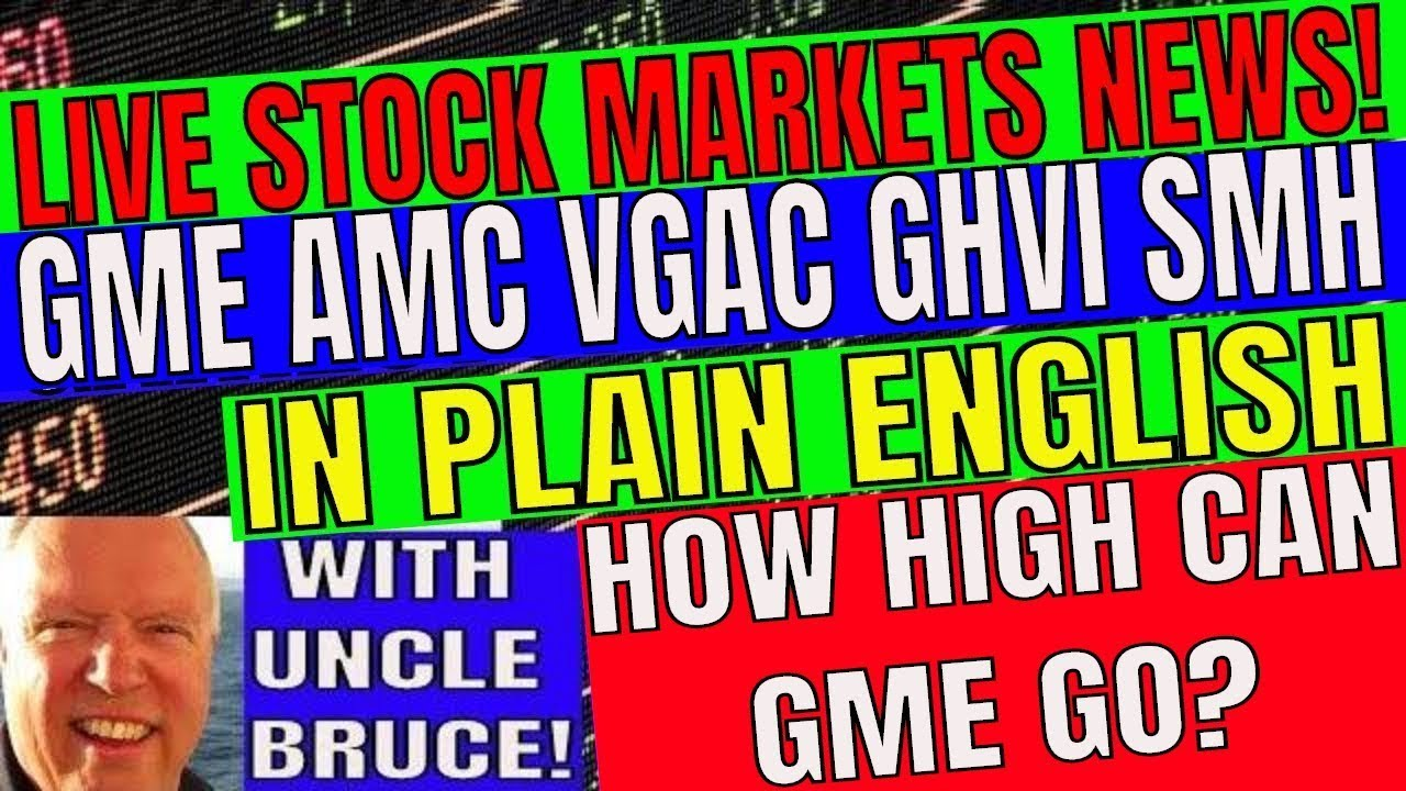 Live Stock Markets News In Plain English with Uncle Bruce How High Can GameStop Go?