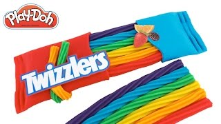 Play Doh How to Make Twizzlers Rainbow Licorice DIY RainbowLearning