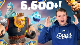 6,600+ 2.9 Royal Giant Tornado Cycle Deck! LIVE Ladder Gameplay - Clash Royale
