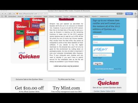 Quicken 2017 Special Offer Codes, Coupons & Upgrade Discounts