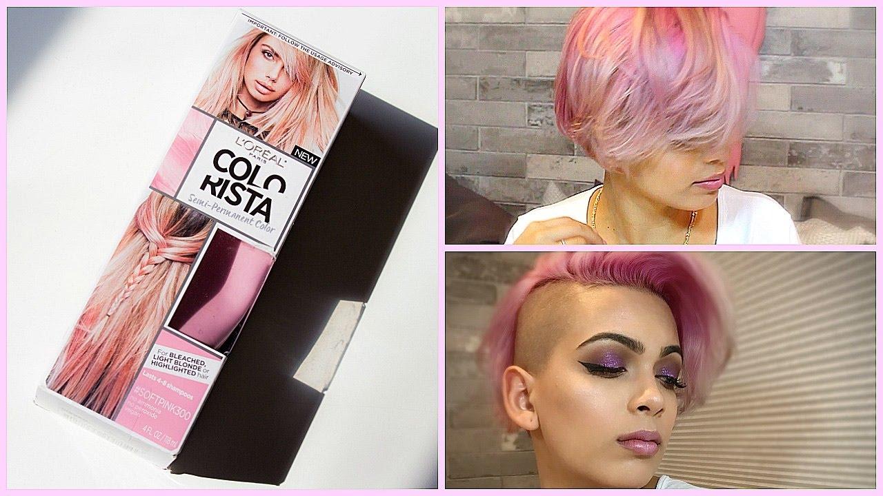 L Oreal Colorista Semi Permanent Color Soft Pink Hair