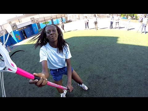 Practicing with Harlem Girls Lacrosse