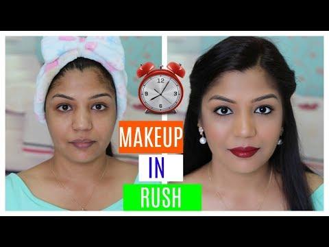 Makeup In Rush (HINDI MAKEUP VIDEO) | SuperPrincessjo