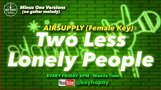 KZ Tandingan - Two Less Lonely People (Female Version) Acoustic Minus One