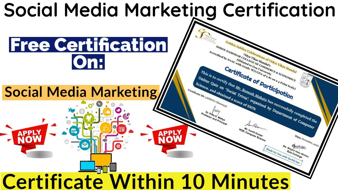Academic research, data intelligence, and social impact. Social Media Marketing Free Certification | Free ...