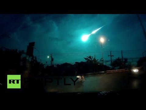 Метеорит пролетел в небе над Бангкоком