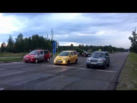 Subaru Forester Vs YRV Turbo R Vs YRV TurboX. 1/4 мили