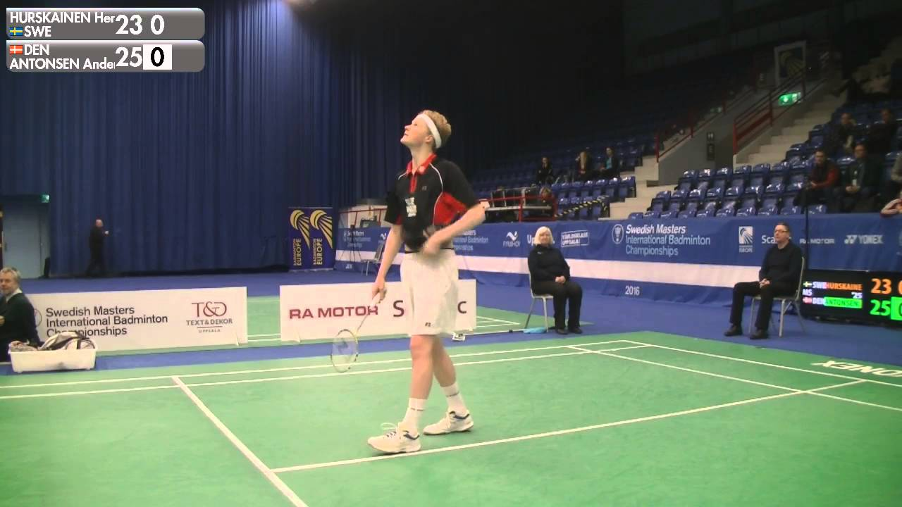 Badminton Henri Hurskainen vs Anders Antonsen MS SF Swedish