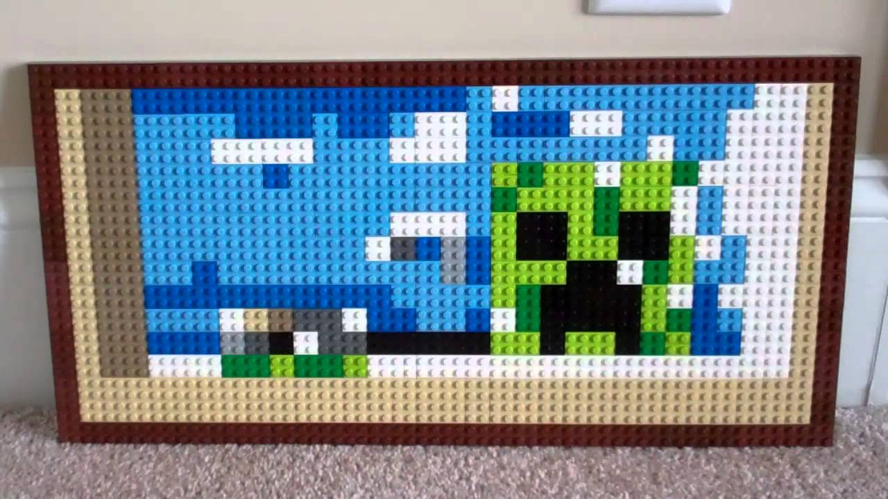 Lego Minecraft Creeper Painting - YouTube
