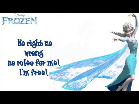 Idina Menzel (Frozen) - Let It Go (Lyrics On Screen)