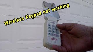 How To Repair Wireless Keypad Garage Door Troubleshooting Keypad Youtube