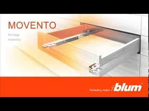 Blum Movento Montage Ladegeleiders Afstellen