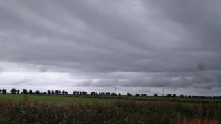 Shelfcloud in Pilsum NW Germany 09.10.2016 10:17 AM (Local Time)
