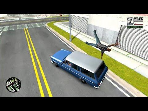 GTA San Andreas (PC) - Best Ragdoll Physics Mod 2017