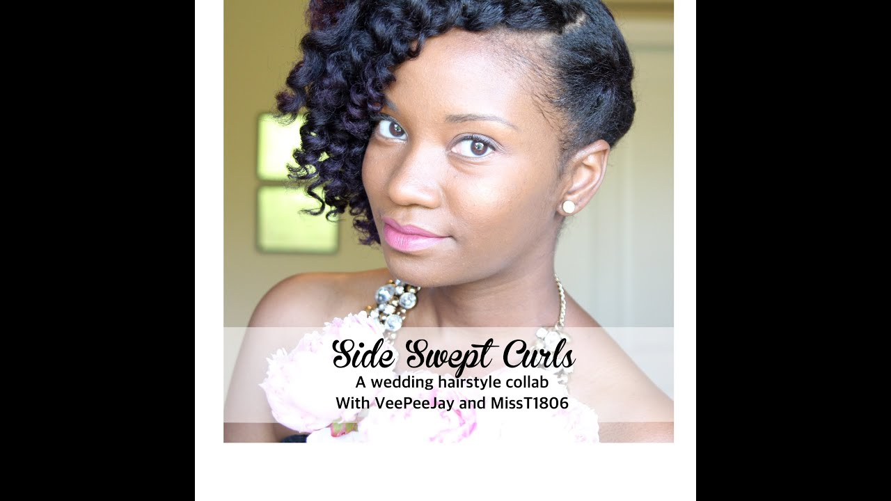 side swept curls wedding hairstyle