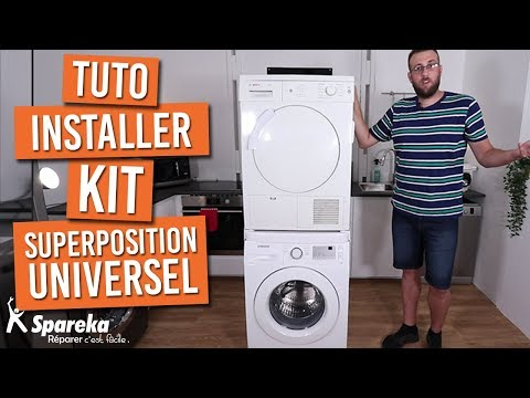 Comment Installer Votre Kit De Superposition Universel Pour Lave Linge Seche Linge Youtube