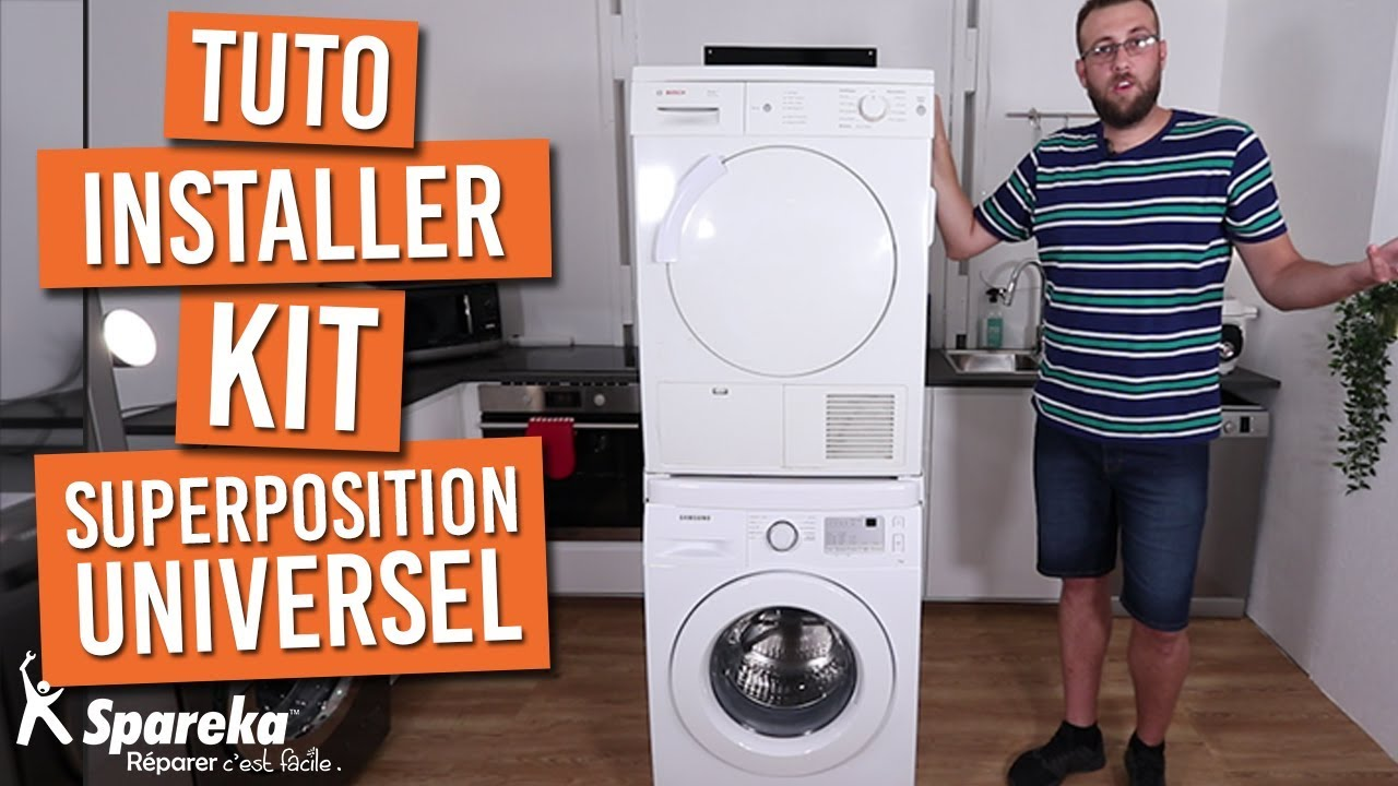 Comment Installer Votre Kit De Superposition Universel Pour Lave Linge Seche Linge Youtube
