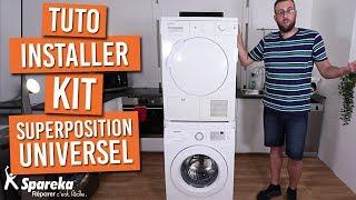 Comment installer votre kit de superposition universel pour lave-linge / sèche-linge