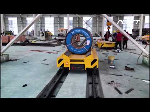 Coil Transfer Car Rail Powered For Steel Coil, Aluminium Foil, Paper Roll