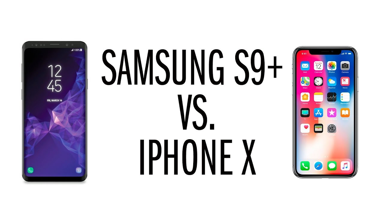 Comparativa Iphone X Samsung S9